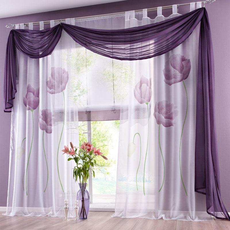 шторы из вуали с ламбрекенами своими руками