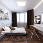 коричневые шторы идеи фото