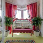 красные шторы идеи дизайн