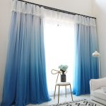 синие шторы фото декор