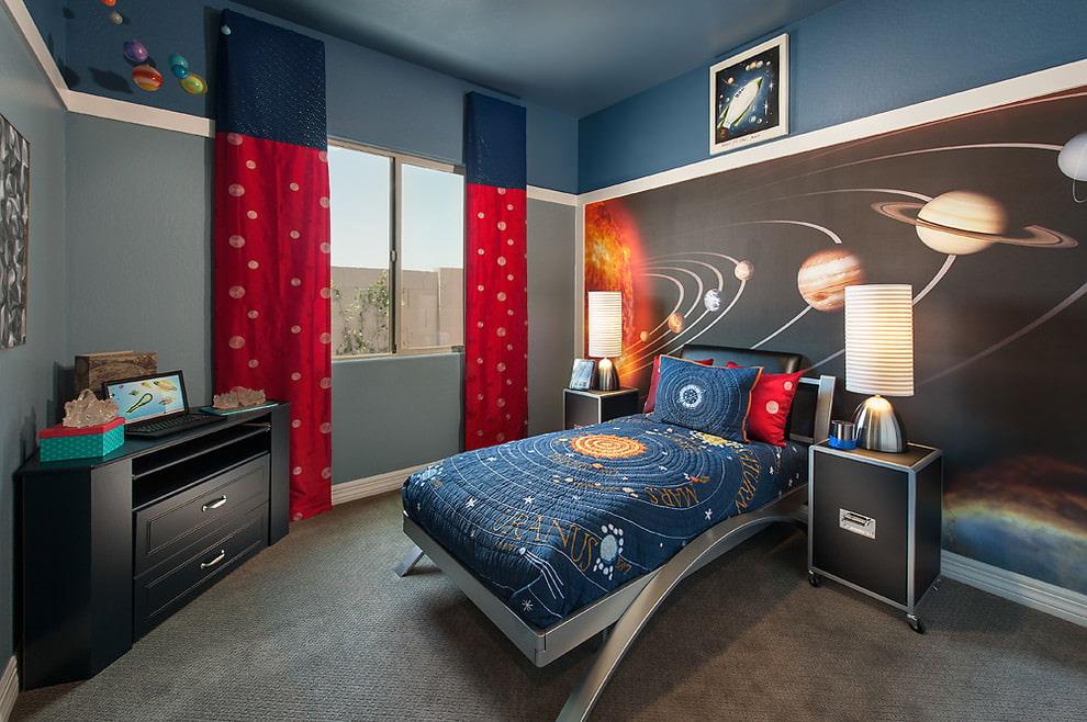 шторы в детскую комнату для мальчика декор