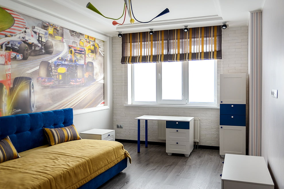 шторы в детскую комнату для мальчика фото декора