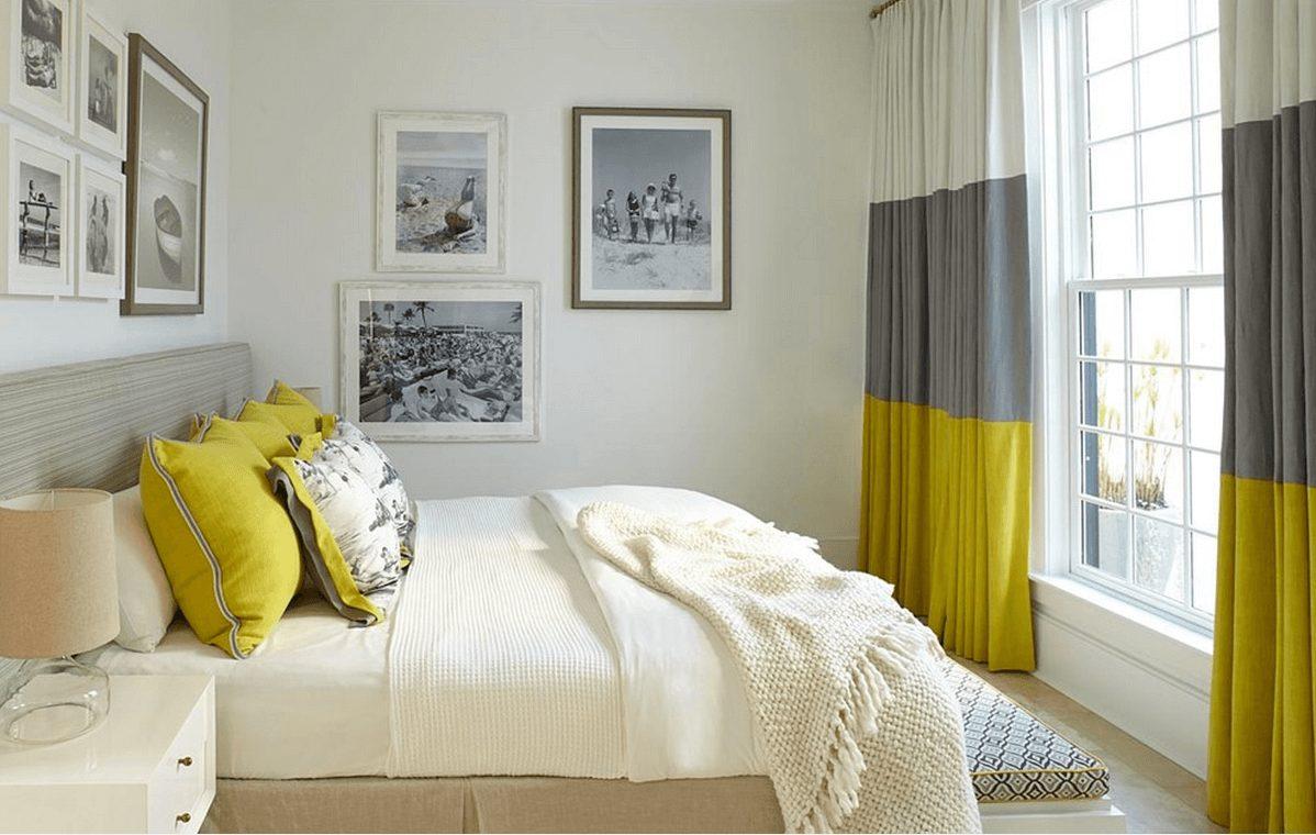 шторы в спальню комбинированные