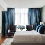 синие шторы варианты