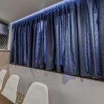синие шторы варианты идеи