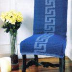 вязаные чехлы на стулья и табуреты виды