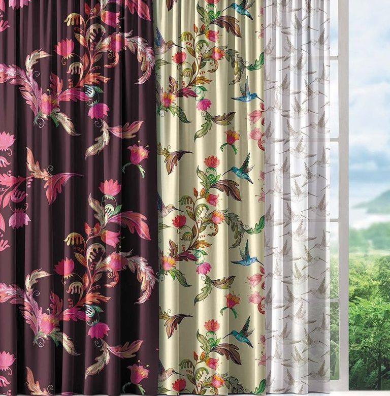 радужные шторы в спаальню
