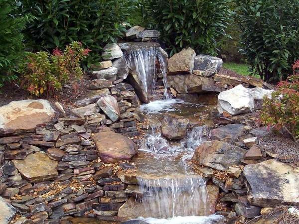 водопад для дачи
