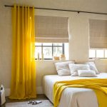 желтые шторы фото интерьера