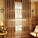 золотые шторы фото