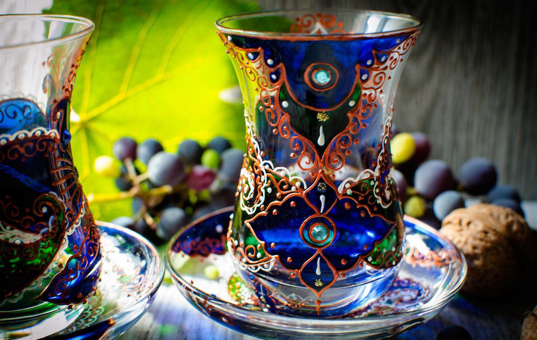 армуды для чая с рисунком