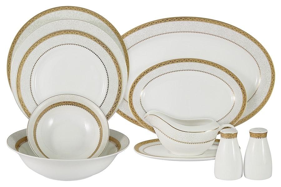 набор посуды из костяного фарфора