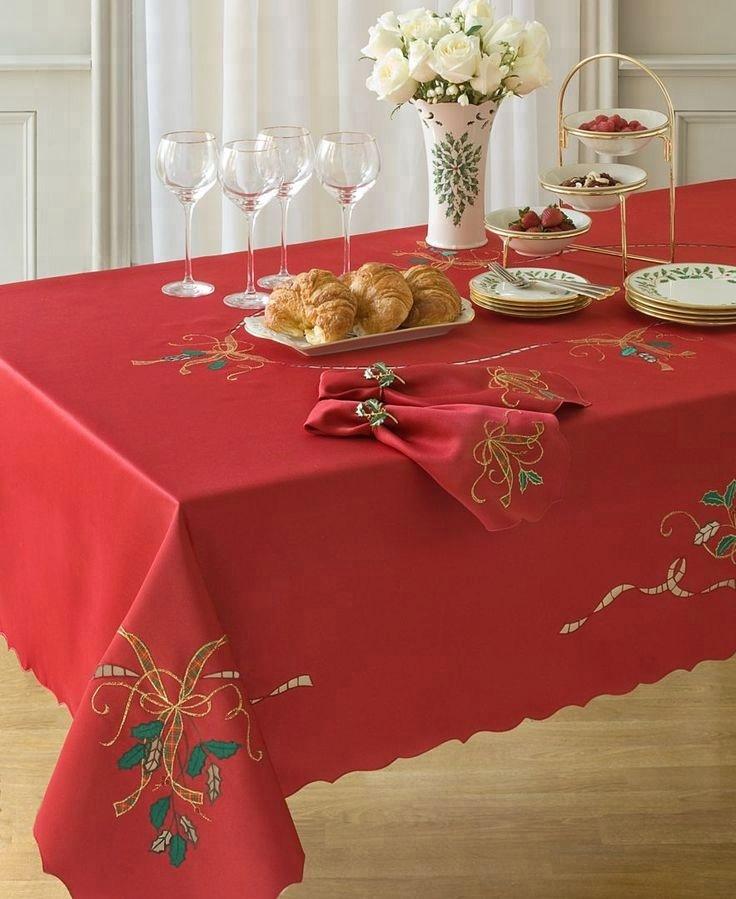 скатерти и салфетки на новогодний стол