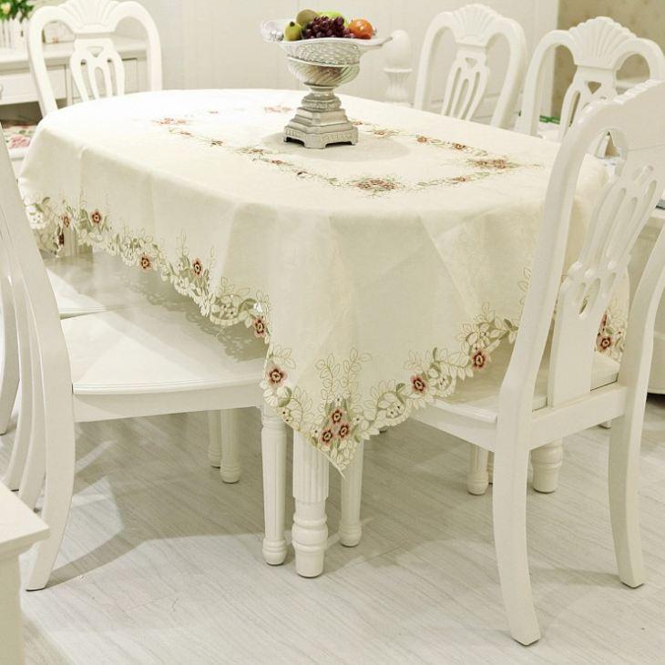 скатерть для овального стола на кухню