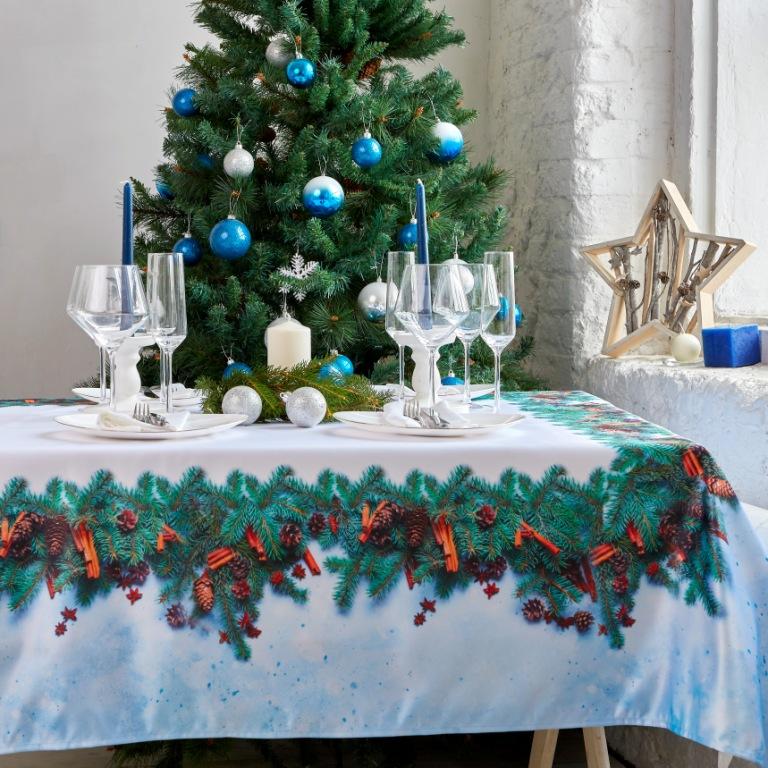 скатерть на новогодний стол одноразоваял
