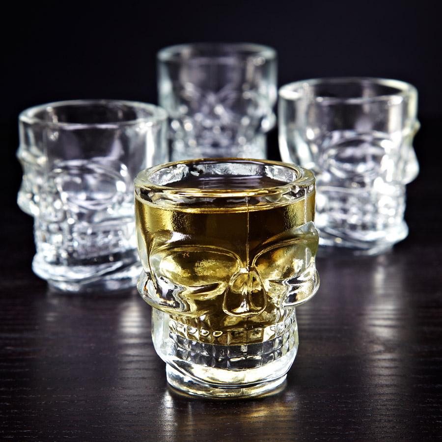 шот стаканы в виде черепа