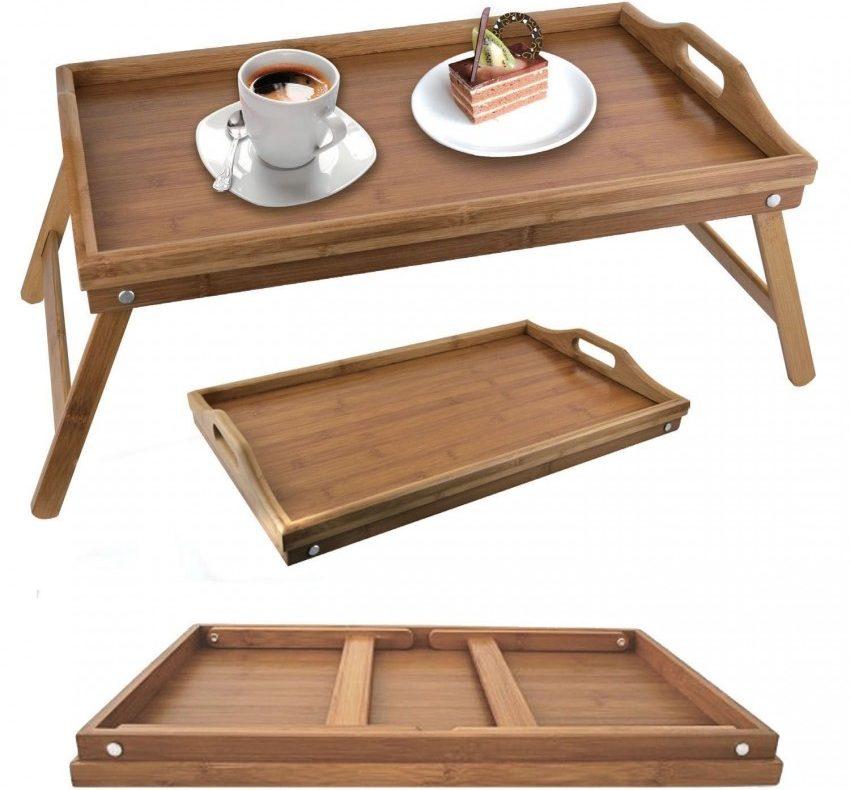 столик для завтрака со складными ножками