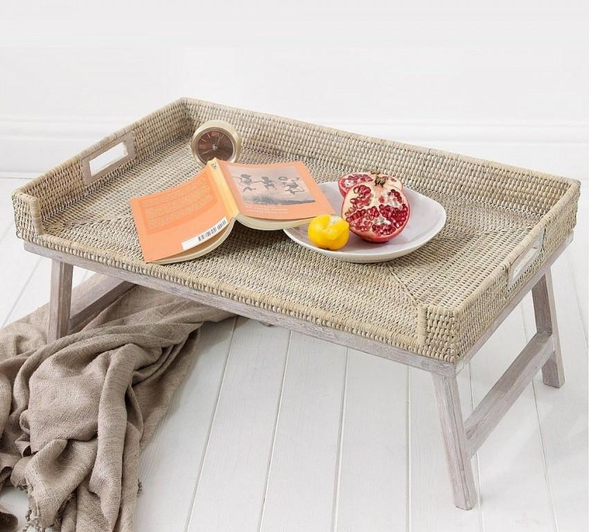 столик для завтраков в виде циновки