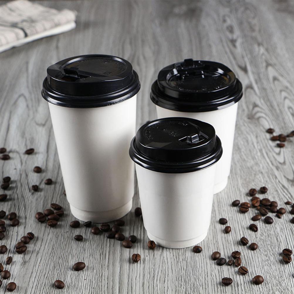 белые стаканы для кофе
