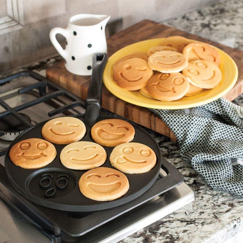 блинница сковорода для оладий со смайлами