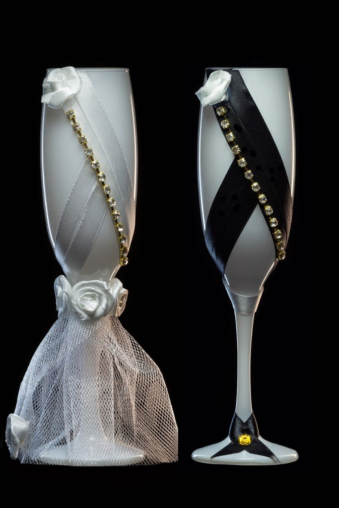 бокалы жених и невеста фото