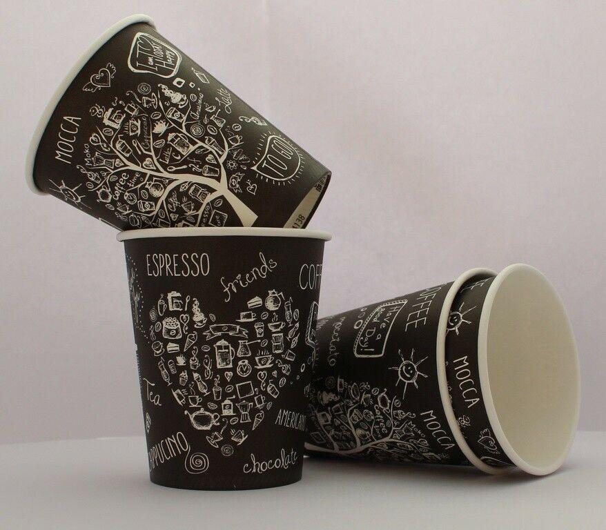 черные стаканчики для кофе