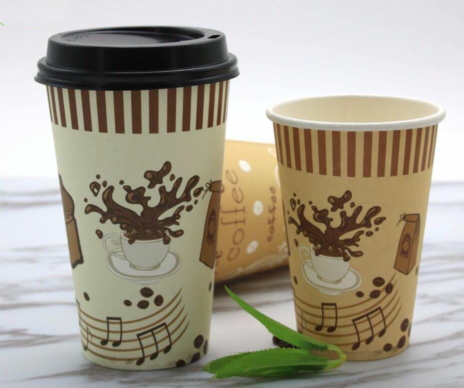 бумажные стаканы для кофе с логотипом