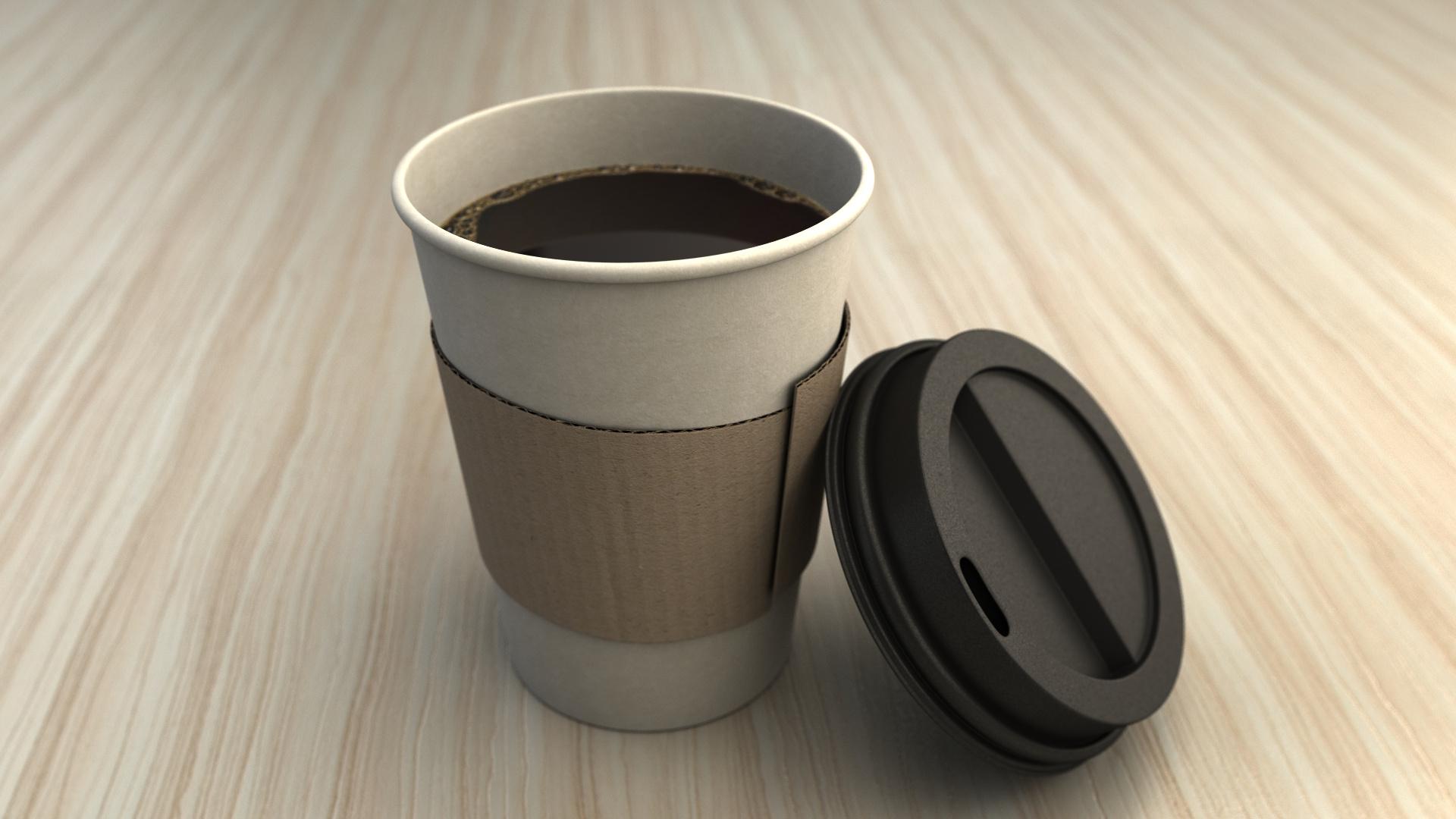 бумажный стакан для кофе