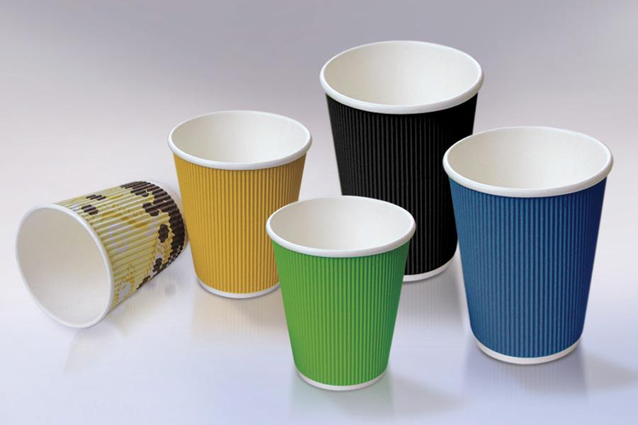 цветные бумажные стаканы для кофе