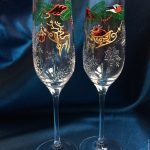 декор бокалов на новый год идеи видов