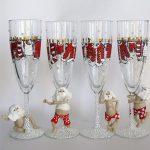 декор бокалов на новый год дизайн фото