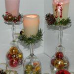 декор бокалов на новый год фото обзор