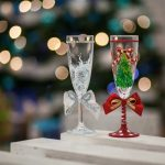 декор бокалов шампанского на новый год