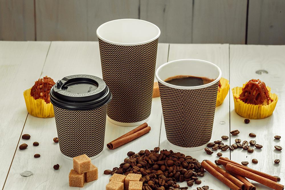 гофрированные стаканы для кофе