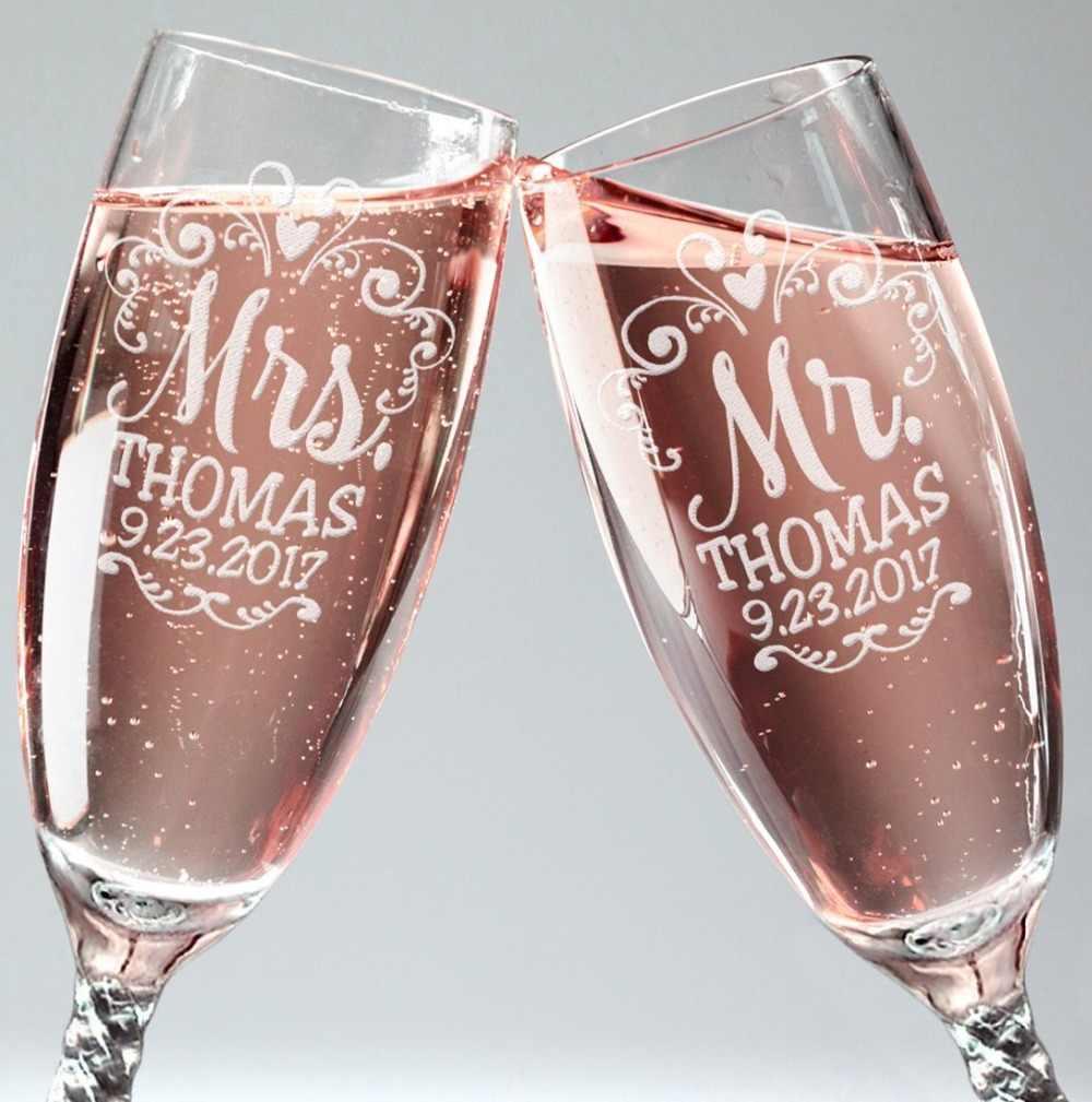 гравировка на бокалах для свадьбы