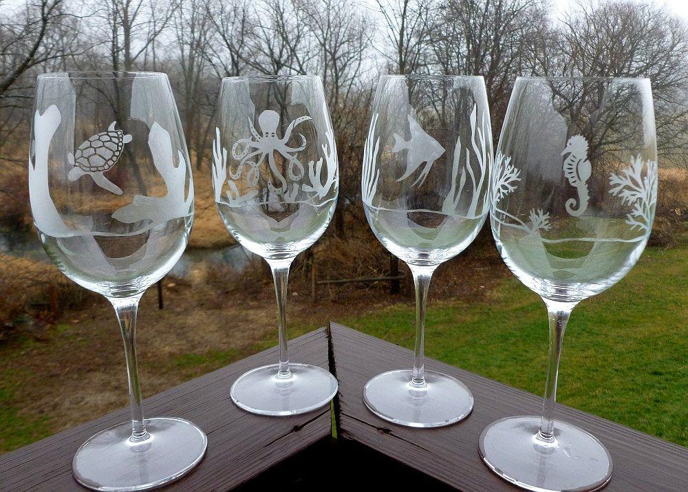 гравировка на бокалах для вина