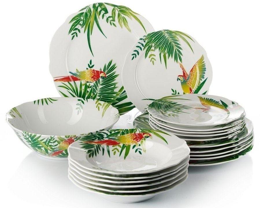 классический набор тарелок