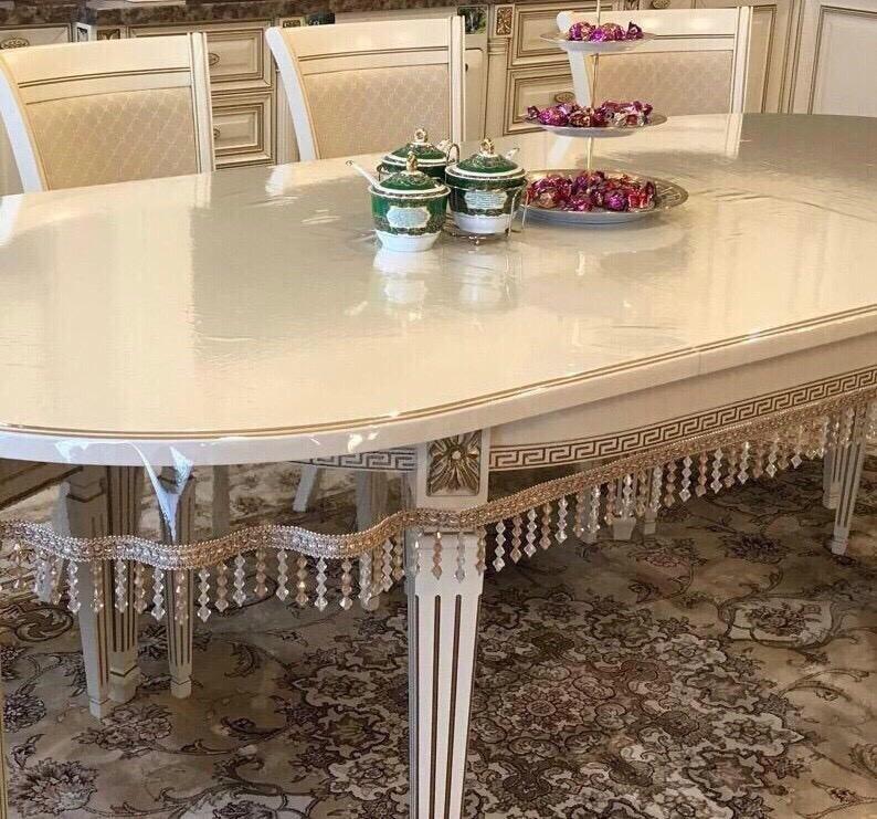 скатерть клеенка из силикона на овальный стол