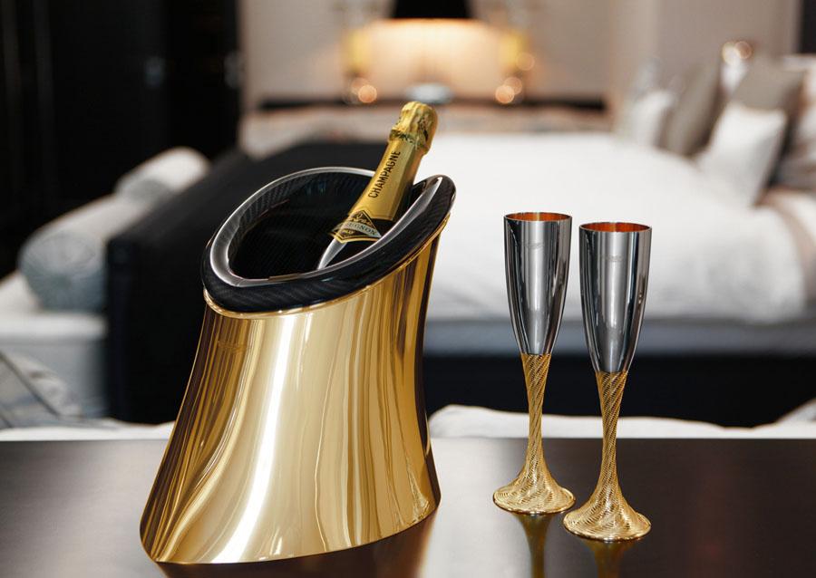 ведерко для шампанского золотое
