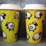 многоразовый стакан для кофе дизайн фото