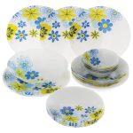 набор столовых тарелок для кухни фото