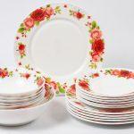 набор столовых тарелок для кухни варианты фото