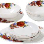 набор столовых тарелок для кухни фото вариантов