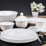 набор столовых тарелок для кухни дизайн