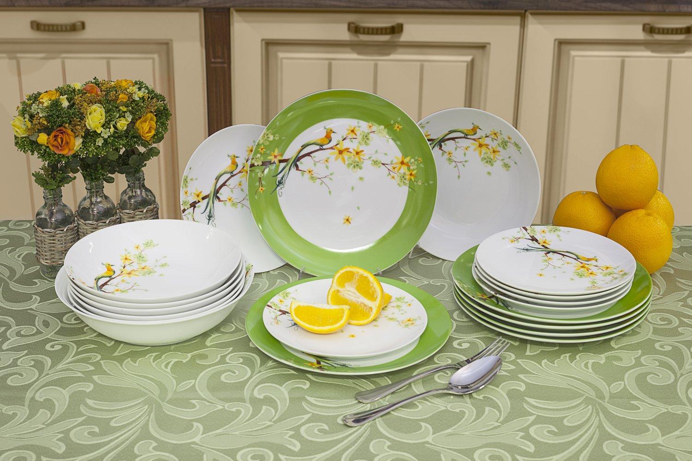 наборы столовых тарелок