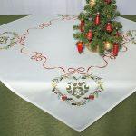новогодние скатерти и салфетки декор фото