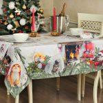 новогодние скатерти и салфетки фото декора