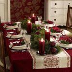 новогодние скатерти и салфетки интерьер