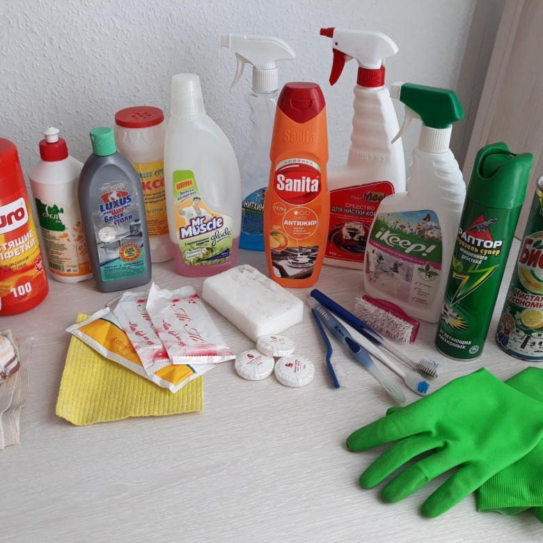 очистка сковороды бытовой химией