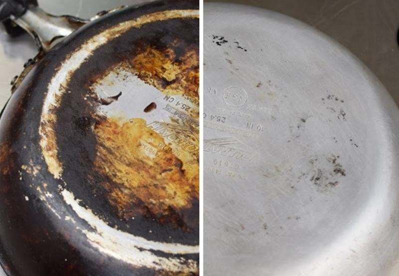 очистить алюминиевую сковороду